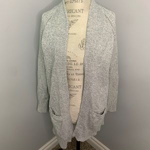 Gap Long Grey Sweater Cardigan (xs)
